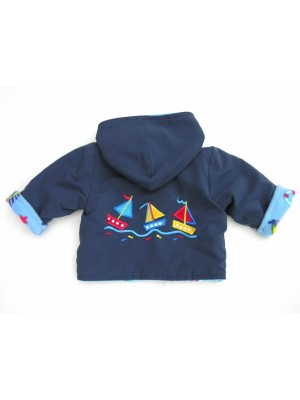 Little Boats Water Resistant Reversible Jacket (avail. 2yr - 6yrs) sale