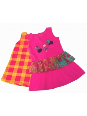 2 Fleece Pinafore Dresses (avail. 1yr  - 8yrs) sale