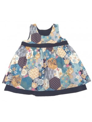 Blue Fleur Reversible Dress (avail. 6m - 5yrs) sale