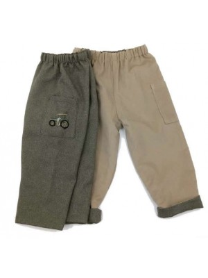 Khaki Reversible Trousers (avail. 6m-3yrs only) Sale
