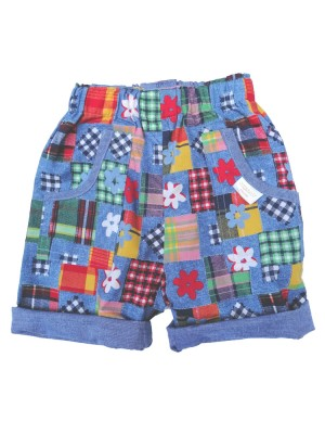 Chambray Patch Reversible Shorts ( 2-4 and 4-6 yrs only) Sale