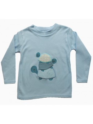 Long sleeved t-shirt with 3 tortoise applique ( 6-12m and 2-4yr only) sale