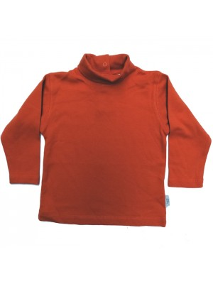 Burnt orange polo neck top ( 6-12m and 12-18m only) Sale