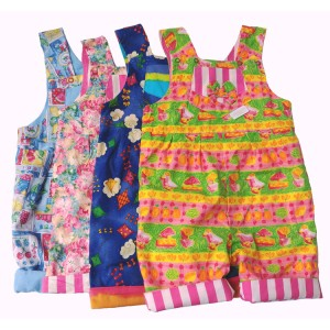 A set of 2 short legged dungarees (6-12m  only) SALE