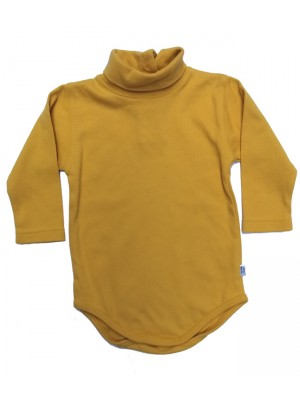 Gold polo neck top (6-12m and 8 yrs only) Sale