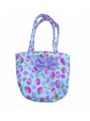 Turquoise Strawberry Little Bag