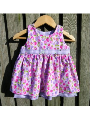 Pink Strawberry Reversible Dress (avail. 3m - 6yrs)