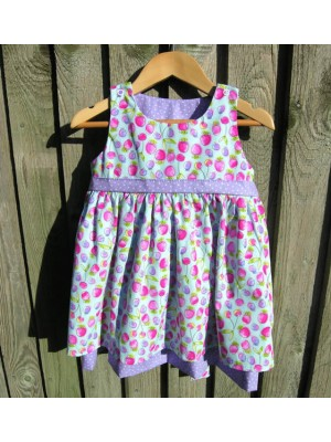 Turquoise Strawberry Reversible Dress (avail. 3m - 8yrs)