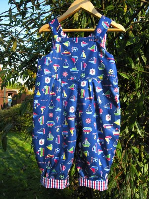Ocean Reversible Dungarees (avail. 0 - 3yrs)