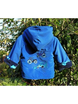 Royal Showerproof/Ringo Fleece Jacket with Vehicle Applique (avail. 3m - 6yrs)