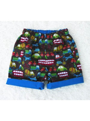 Brown Trucks Reversible Shorts (avail. 3m - 8yrs)