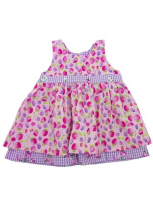 Pink Strawberry Reversible Dress (avail. 3m - 8yrs)