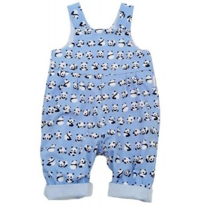 Panda Reversible Dungarees (avail. 0 - 3yrs)