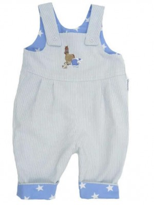 Sky Reversible Dungarees (avail. 0 - 3yrs)