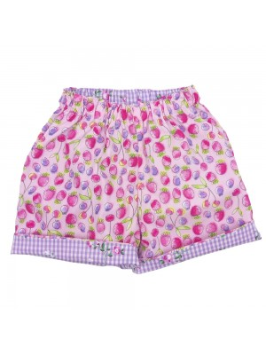 Pink Strawberry Reversible Shorts  (avail. 6m  - 6yrs)