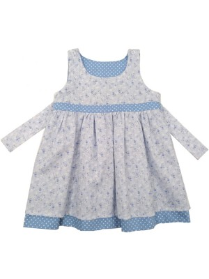 Blue Jasmine Reversible Dress (avail. 3m - 8yrs)