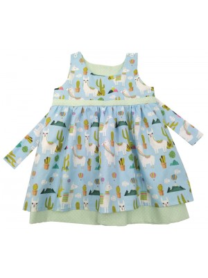 A Llama Reversible Dress (avail. 3m - 7yrs)