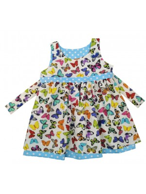 White Butterfly Reversible Dress (avail. 3m - 8yrs)