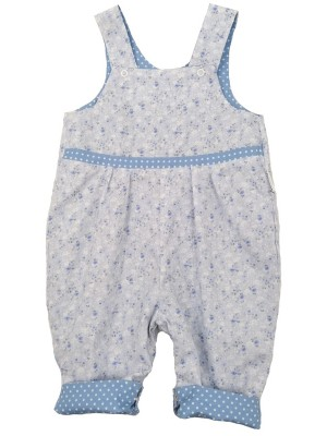 Blue Jasmine Reversible Dungarees (avail. 0 - 4yrs)