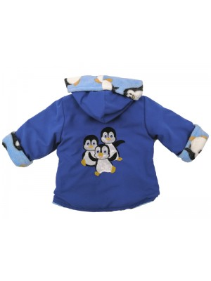 Royal Water Resistant / Penguin Cuddle Fleece Jacket with Penguin Applique (avail. 3m - 6yrs)