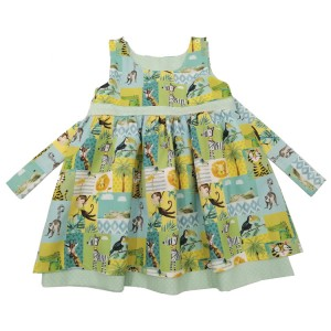 Jolly Jungle Reversible Dress (3-6m and 1-2yr only)