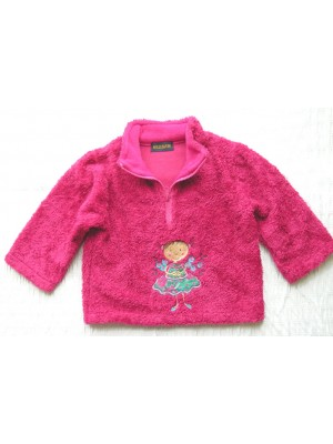 Cerise Fleece with Flower Girl Applique (avail. 1-2yr only) Sale