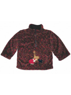 Redwood Fleece with Farmyard Gathering Applique (avail. 6m - 6yrs)