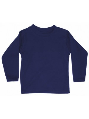 Plain Navy Long Sleeve T-Shirt (avail. 3m - 6yrs)