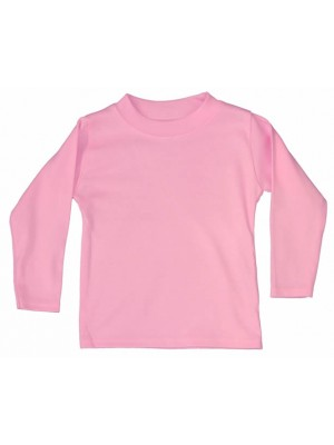 Plain Light Pink Long Sleeve T-Shirt (avail. 0 - 6yrs)