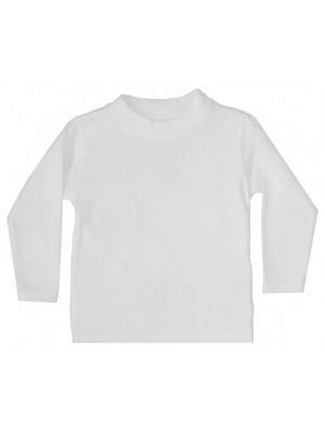 Plain White Long Sleeve T-Shirt (avail. 0 - 6yrs)