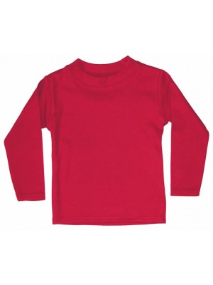 Plain Red Long Sleeve T-Shirt (avail. 0 - 6yrs)