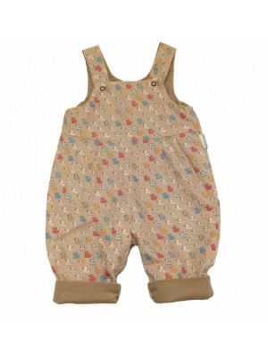 Beige Duck Reversible Dungarees (avail. 0 - 1yr)