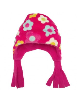 Cerise Floral Cuddle Fleece Nordic Hat