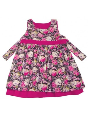 A Peony Reversible Pinafore Dress (avail. 3m - 8yrs)