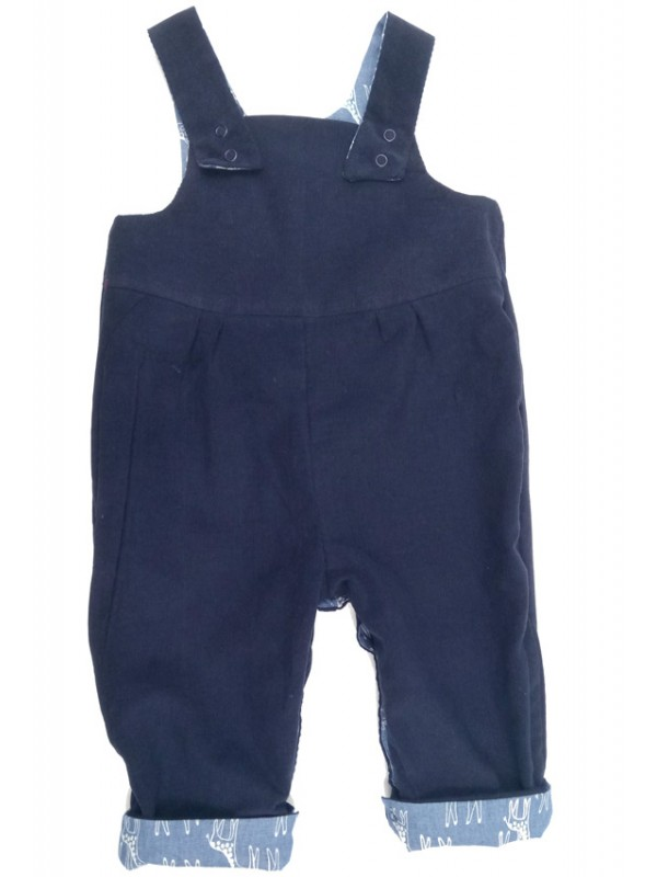 Giraffe Reversible Dungarees (avail. 0 - 3 yrs)