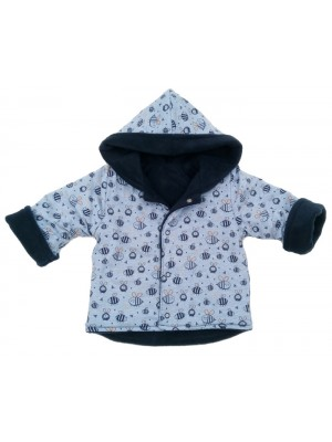 Bumble/Navy Fleece Jacket (avail. 3m - 2yrs)