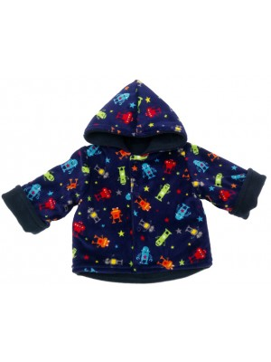 Navy Fleece Robot Jacket (avail. 3m - 4yrs)