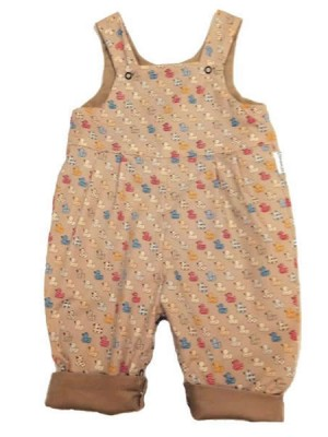 Beige Ducks Reversible Dungarees (avail. 0 - 2yr)
