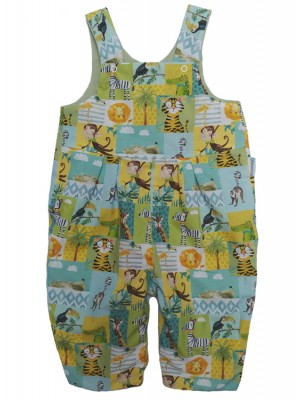 Jolly Jungle Reversible Dungarees (avail. 0 - 4yrs)